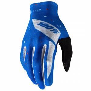 100% Celium Blue White Motocross Gloves