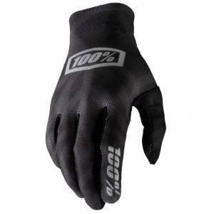 100% Celium Black Silver Motocross Gloves