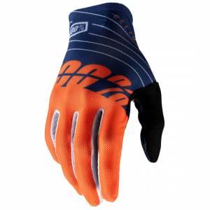 100% Celium Navy Orange Motocross Gloves