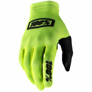 100% Celium Fluo Yellow Black Motocross Gloves