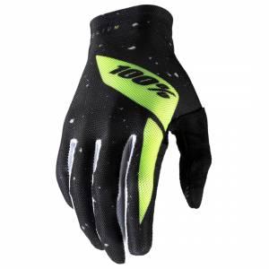 100% Celium Black Fluo Yellow Motocross Gloves