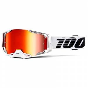 100% Armega Lightsaber Red Mirror Lens Motocross Goggles