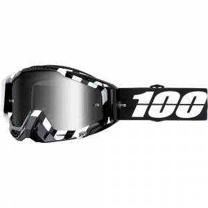 100% Racecraft Alta Silver Mirror Lens Motocross Goggles