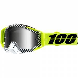 100% Racecraft Andre Silver Mirror Lens Motocross Goggles