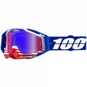 100% Racecraft Anthem Red Blue Mirror Lens Motocross Goggles