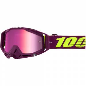 100% Racecraft Klepto Pink Mirror Lens Motocross Goggles