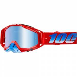100% Racecraft Kuriakin Blue Mirror Lens Motocross Goggles