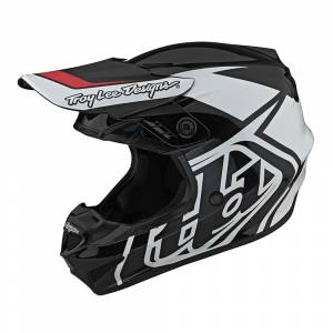Troy Lee Designs GP Overload Black White Motocross Helmet
