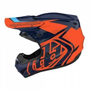 Troy Lee Designs GP Overload Navy Orange Motocross Helmet