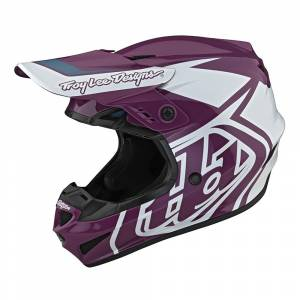Troy Lee Designs GP Overload Ginger White Motocross Helmet