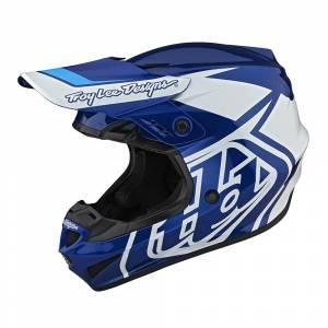 Troy Lee Designs GP Overload Blue White Motocross Helmet