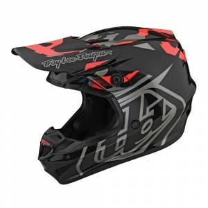 Troy Lee Designs GP Overload Camo Black Rocket Red Motocross Helmet