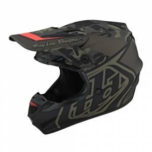 Troy Lee Designs GP Block Black Orange Motocross Helmet