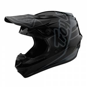 Troy Lee Designs GP Polyacrylite Silhouette Orange Cyan Motocross Helmet