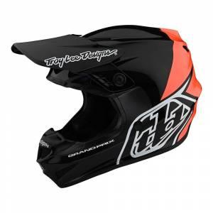 Troy Lee Designs Kids GP Block Black Orange Motocross Helmet