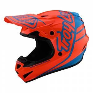 Troy Lee Designs Kids GP Silhouette Orange Cyan Motocross Helmet