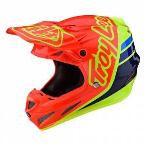 Troy Lee Designs SE4 Composite Silhouette Orange Yellow Motocross Helmet