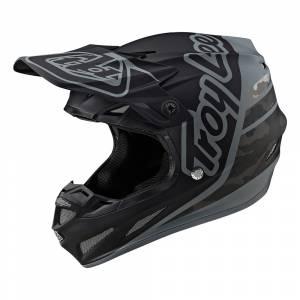 Troy Lee Designs SE4 Composite Silhouette Black Camo Motocross Helmet