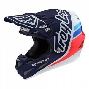 Troy Lee Designs SE4 Composite Silhouette Silver Black Motocross Helmet