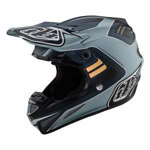 Troy Lee Designs SE4 Composite Flash Grey Silver Motocross Helmet