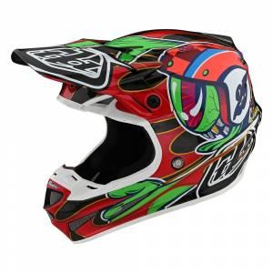 Troy Lee Designs SE4 Carbon Eyeball Black Red Motocross Helmet