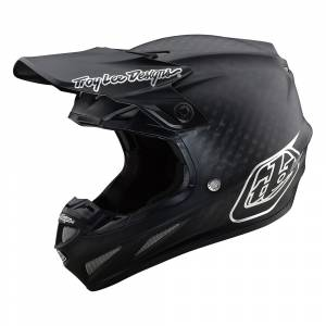 Troy Lee Designs SE4 Carbon Midnight Black Chrome Motocross Helmet
