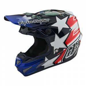 Troy Lee Designs SE4 Carbon LE Liberty Motocross Helmet