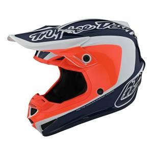 Troy Lee Designs SE4 Polyacrylite Corsa Navy Orange Motocross Helmet