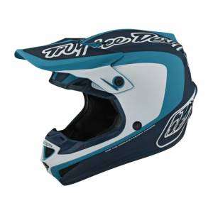 Troy Lee Designs SE4 Polyacrylite Corsa Marine Motocross Helmet