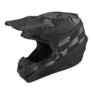 Troy Lee Designs SE4 Polyacrylite Strike Grey Silver Motocross Helmet