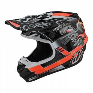Troy Lee Designs SE4 Polyacrylite Carb Black Motocross Helmet