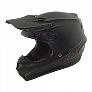 Troy Lee Designs SE4 Polyacrylite Mono Black Motocross Helmet