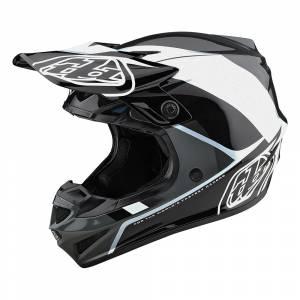 Troy Lee Designs SE4 Polyacrylite Beta Silver Motocross Helmet
