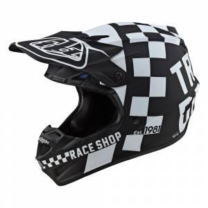 Troy Lee Designs Kids SE4 Polyacrylite Checker Black White Motocross Helmet