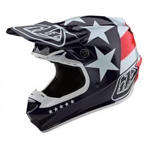 Troy Lee Designs Kids SE4 Polyacrylite Freedom Red White Motocross Helmet
