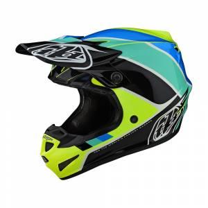 Troy Lee Designs Kids SE4 Polyacrylite Beta Yellow Black Motocross Helmet