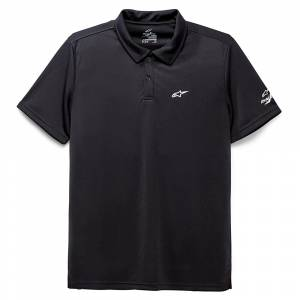 Alpinestars Scenario Performance Black Polo Shirt