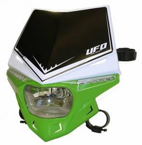 UFO Stealth headlight 12V 35W - White Green