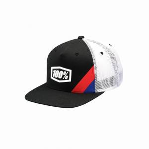 100% Cornerstone Black Trucker Hat