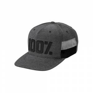 100% Frontier Grey Heather Snapback Hat