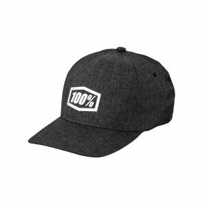 100% Generation X-Fit Charcoal Heather Hat
