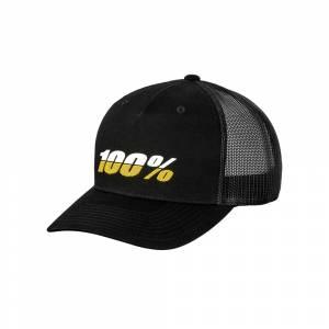 100% League X-Fit Black Snapback Hat