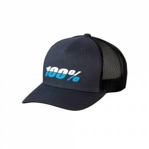 100% League X-Fit Charcoal Snapback Hat