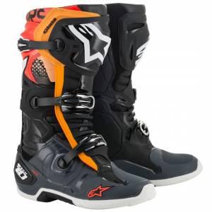 Alpinestars Tech 10 Black Grey Orange Red Fluo Motocross Boots
