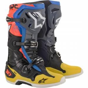 Alpinestars Tech 10 Black Yellow Blue Red Fluo Motocross Boots