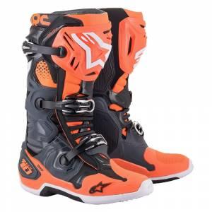 Alpinestars Tech 10 Boots Grey Orange Fluo