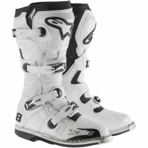 Alpinestars Tech 8 RS White Motocross Boots