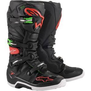 Alpinestars Tech 7 Black Red Green Motocross Boots