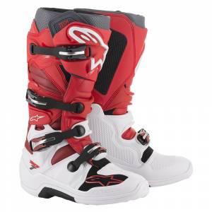 Alpinestars Tech 7 Red White Burgundy Motocross Boots