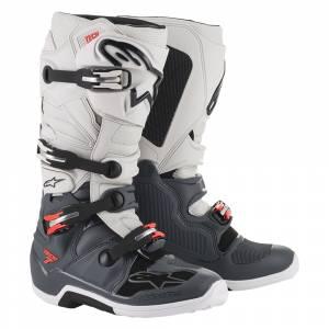 Alpinestars Tech 7 Grey Red Fluo Motocross Boots